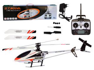 RC Toy: Single Airscrew 4 Channels Metal RC Helicopter (9019)