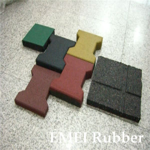 Rubber Dogbone Paving for Garden and Car Road pictures & photos