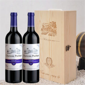Fashionable 2 Bottle Pine Wooden Wine Box pictures & photos