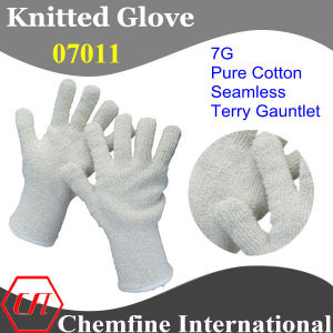 7g White Pure Cotton Seamless Terry Knitted Gauntlet pictures & photos