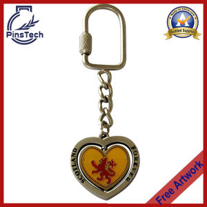 Heart Shape Keychain, Promotional Printed Keychain pictures & photos