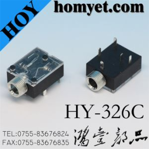 China Manufacturer 3.5mm Phone Jack with DIP Type (Hy-326c) pictures & photos