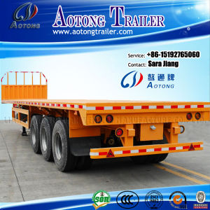 China Used 40ft Flatbed/Skeleton Semi Trailers for Sale pictures & photos