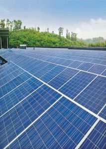 Rooftop Solar Power Plant with Polycrystalline Panel