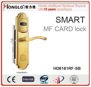 High Quality 304 Stainless Steel Electronic RFID Card Hotel Lock (HD6181) pictures & photos