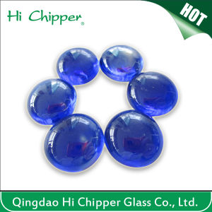 Cobalt Blue Flat Back Glass Gemstone Beads pictures & photos