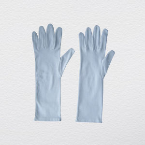 Bleached White Long Reversable Cotton Work Glove pictures & photos