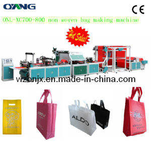 Onl-Xb700-800 Full Automatic Non Woven Fabric T-Shirt Bag Making Sealing Machine Price pictures & photos