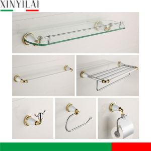 PVD Golden Chrome Brass Bathroom Accessories Set 6PCS pictures & photos