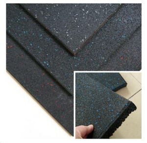 EPDM Gym Rubber Flooring, Colorful Rubber Flooring, Recycled Rubber Matting pictures & photos