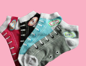 Woman Cotton Ankle Socks (DL-WS-60) pictures & photos