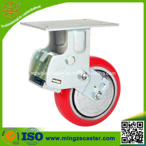 Heavy Duty Spring PU Trolley Wheel Caster pictures & photos