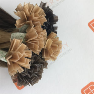 Top Grade V Tip Hair Extensions with Human Hair pictures & photos
