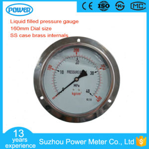160mm Ss Case Liquid Oil Pressure Gauge with Panel Mount pictures & photos