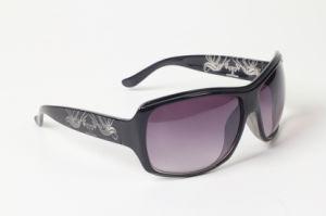 Decorative Pattern Fashion Sunglasses (black)