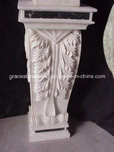 Carved Stone Base, Natural Marble Pedestal (GS-P-034) pictures & photos