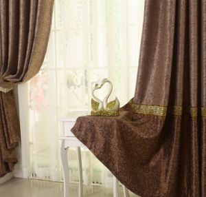 Suede Double-Faced Jacquard Cation Curtain Roman Curtain (MM-135) pictures & photos
