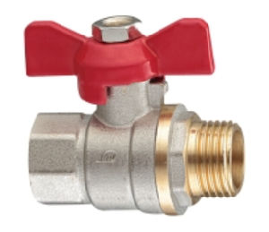 Full Fl3w Aperture Threaded Brass Male Ball Valves Copper Te-03 pictures & photos