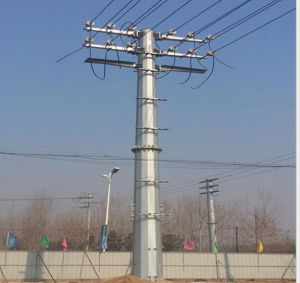 High-Quality Steel Tube Transmission Tower pictures & photos
