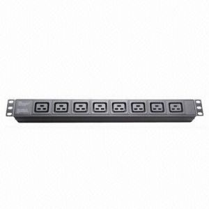 PDU IEC Plug Socket, 8-Way, 19-Inch Network Cabinet, Size 1u pictures & photos