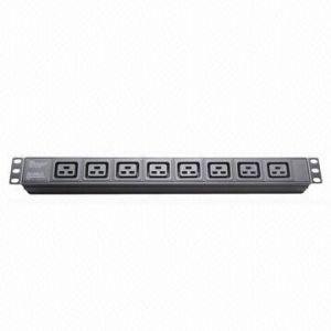 PDU IEC Plug Socket, 8-Way, 19-Inch Network Cabinet, Size 1u pictures & photos
