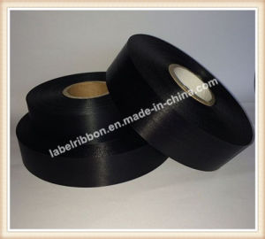 Oeko-Tex High Quality Black Double Side Polyester Satin Ribbon (PS1211BLK) pictures & photos
