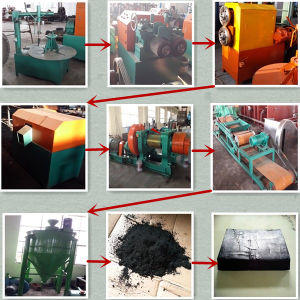 Waste Tyre Crumbing Machine/Rubber Crumb Machine pictures & photos