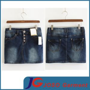 Factory Wholesale Sexy Denim Mini Skirts (JC2053) pictures & photos