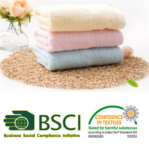 Egyptian Cotton Dobby Plain Dyed Towel pictures & photos