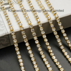 High Quality Pearl Rhinestone Cup Chain for Garment Decoration pictures & photos