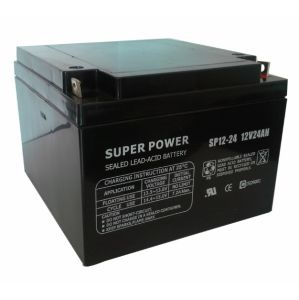 UPS Battery 12V 24ah with CE UL ISO9001 ISO14000 pictures & photos