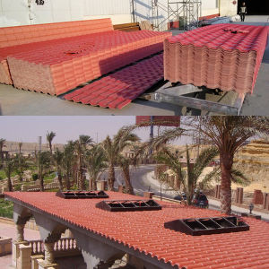 Colorfast PVC Resin Roof Sheet pictures & photos