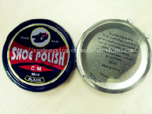 High Quality 50ml Solid Shoe Polisher in Tin