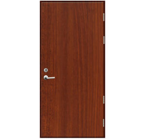 Melamine Laminated Fire Rated Wood Door (walnut color) pictures & photos