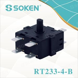 Nylon Rotary Switch with 4 Positions (RT233-4-B) pictures & photos