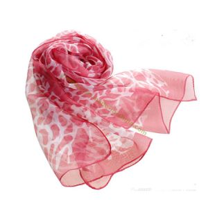 New Fashion Leopard Silk Scarf for Lady pictures & photos