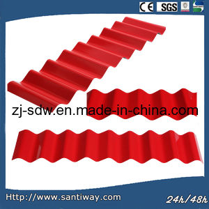 Curved Roof Sheets in Red Color or Galvanized pictures & photos
