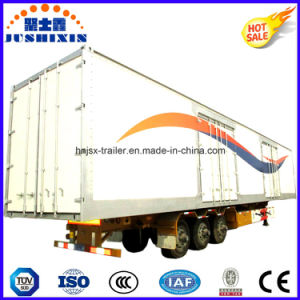Tri-Axles 13 Meters Aluminium-Riveted Van/Box Type Bulk Cargo Utility Trailer with Competitive Factory Price pictures & photos