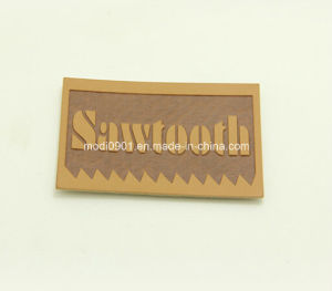Coth Label Leather Patch Custom Any Color Embossed Metal Logo Label Plate Jeans PU Leather Patch pictures & photos