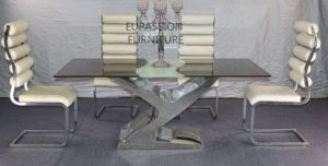Modern Stainless Steel Glass /Marble Table