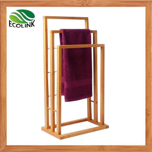 3 Tier Bamboo Bath Towel Rail for Bathroom Furniture pictures & photos