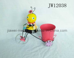 Iron Bee Flower Planter with Bycicle Design (JW12038)