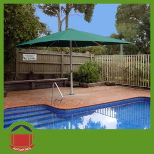 Light Green Central Side Pist Umbrella for Swimming Pool pictures & photos