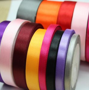 Various Size Colorful Polyester Satin Ribbon