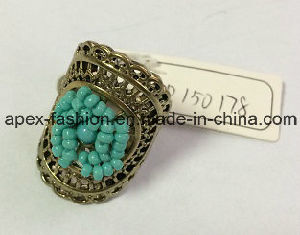 Metal Lace Hollow Ring with Blue Seedbeads 2017 New pictures & photos