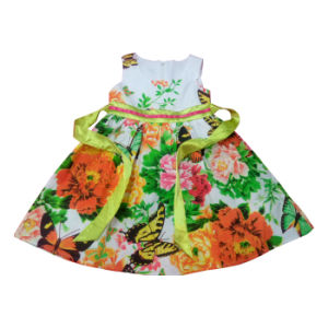 Flower Kids Girl Dress for Children′s Clothes Sqd-101 pictures & photos