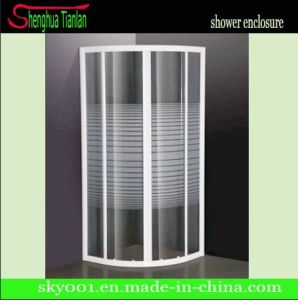 Simple Round Patterned Tempered Glass Corner Shower Room (TL-412) pictures & photos