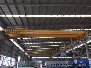 Workshop Used Double Girder Overhead Crane with Electric Hoist pictures & photos