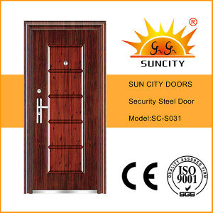 Iron Door Pictures for Home Kerala Steel Grill Door Design (SC-S031) pictures & photos