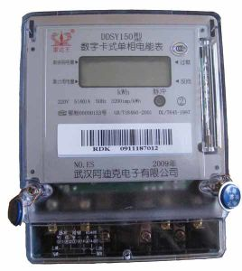 Radarking Single Phase 5+1 Bit LCD Display Prepaid Electric Meter pictures & photos